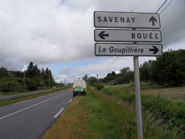 34° jour : Le dimanche 3 juin sur la route de Savenay