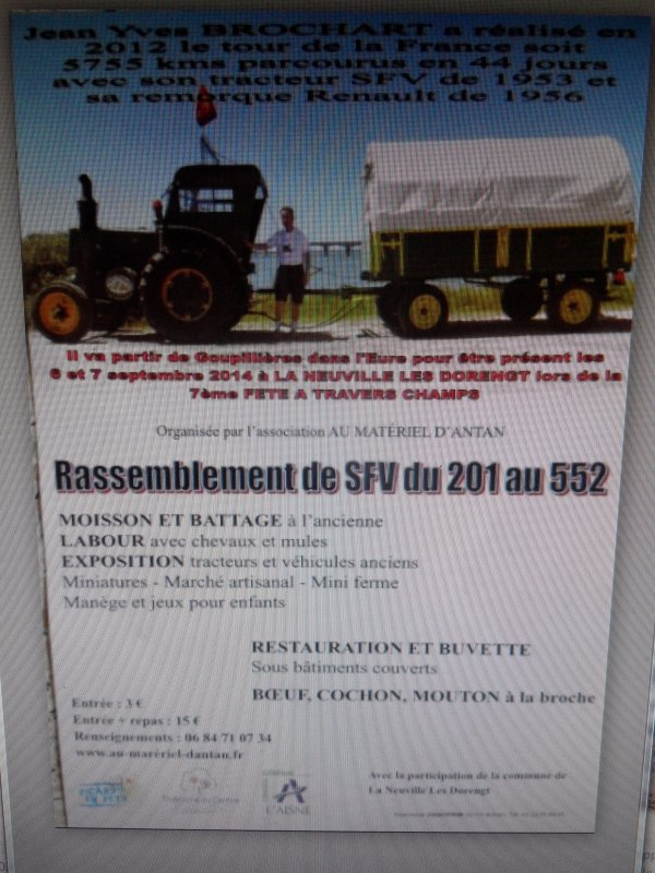 Sortie prévue pour le Société Française Vierzon de 1953 et son accompagnateur :-)