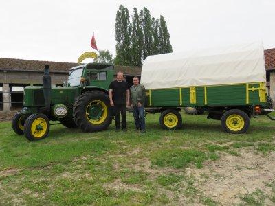 Jean-Yves Brochard reprends le récit de son 2° Tour de la France de 2015 avec son tracteur Société Française Vierzon 302 de 1953
