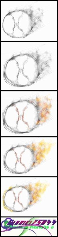 Oeil, ampoule et balle de baseball (je sais, c'est bizarre comme mélange)
