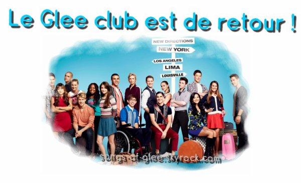 Le Glee club est de retour pour une cinquième saison !