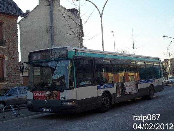Ligne 306 bus renault agora 2 vf n 7320 blog de ratp067 - Ligne 118 bus ...