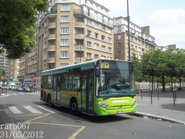 Ligne v1 bus heuliez bus gx127 n 467 en livr e valouette - Porte d italie metro ...