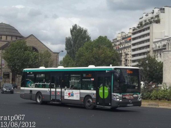habillage ligne 22 bus irisbus iveco citelis 12 stif ratp diodes hanover n 8563 de la ligne. Black Bedroom Furniture Sets. Home Design Ideas