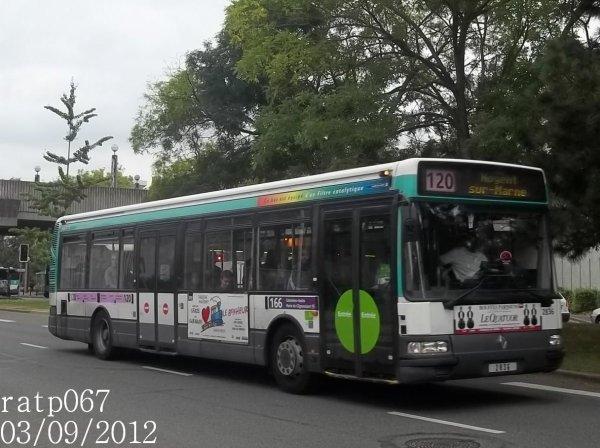 ligne 120 bus renault agora s 2 n 2836 blog de ratp067. Black Bedroom Furniture Sets. Home Design Ideas