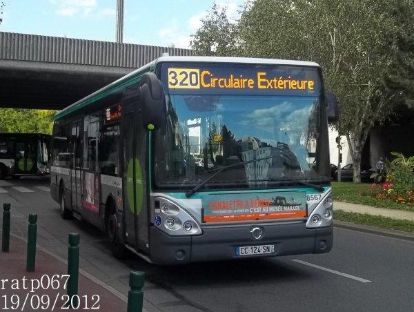 Habillage ligne 320 bus irisbus iveco citelis 12 stif ratp - Ligne 118 bus ...