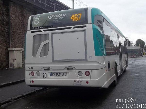 Ligne 467 v olia ratp bus gx327 n 12914 blog de ratp067 - Ligne 118 bus ...