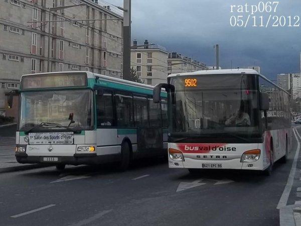 ligne 270 bus renault agora s n 2233 de la ligne 269 270 370 blog de ratp067. Black Bedroom Furniture Sets. Home Design Ideas