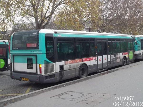 habillage ligne 152 bus irisbus agora line vf n 8341 de la ligne 61 blog de ratp067. Black Bedroom Furniture Sets. Home Design Ideas