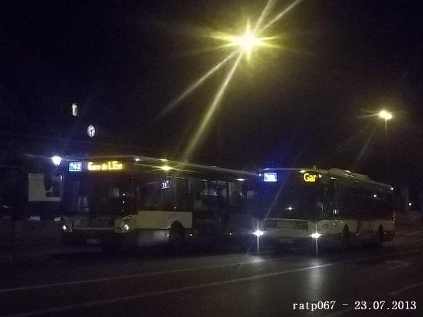Nuit du 22 / 23 juillet 2013 : Lignes Noctilien N42 et N45 à Gare de l'Est