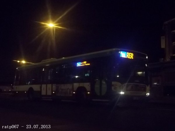 Nuit du 22 / 23 juillet 2013 : Lignes Noctilien N01, N13, N41 et N43 à Gare de l'Est