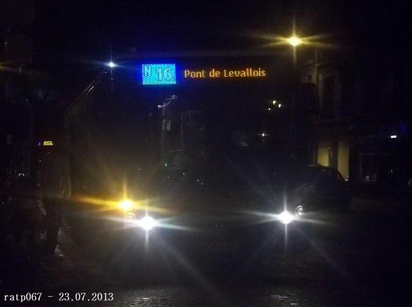 Nuit du 22 / 23 juillet 2013 : Lignes Noctilien N16 et N51 à Gare Saint-Lazare