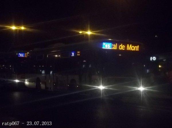 Nuit du 22 / 23 juillet 2013 : Lignes Noctilien N01, N02, N45 à Gare de l'Est et 2ème service de la ligne 334 à Pont de Bondy