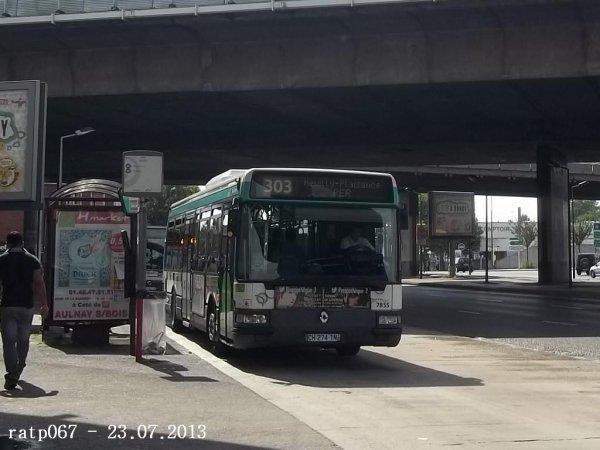 Photos des lignes 303 et TUB à Pont de Bondy Tramway - Avenue de Rosny