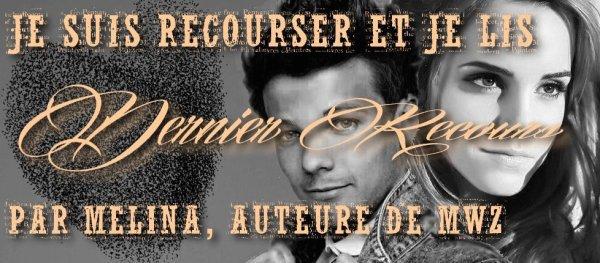 magnifique bannière de Hanna pour la fiction Dernier Recours, écrit par Mélina