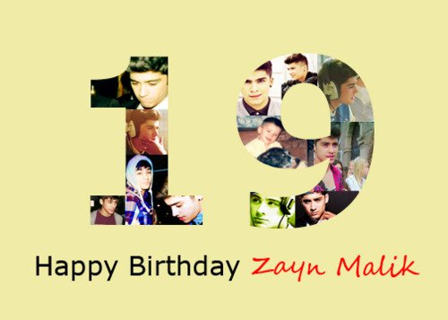 Happy Birthday Zayn !!