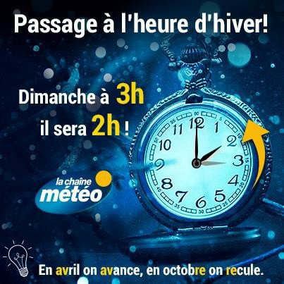 ATTENTION HEURE D'HIVER