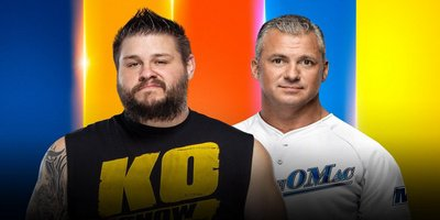 Match simple. Kevin Owens vs Shane McMahon (Si Kevin Owens perd le match, il devra quitter la WWE)