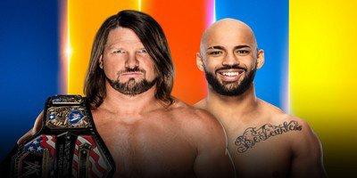Championnat des Etats-Unis. AJ Styles vs Ricochet