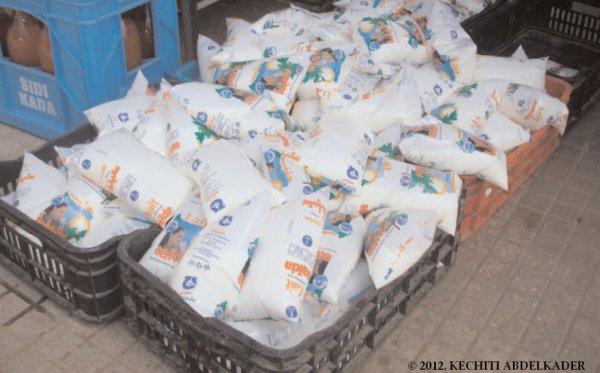 Le lait en sachet de la laiterie «La source de Saïda» et Limonaderie Sidi kada très Célèbre à Oran