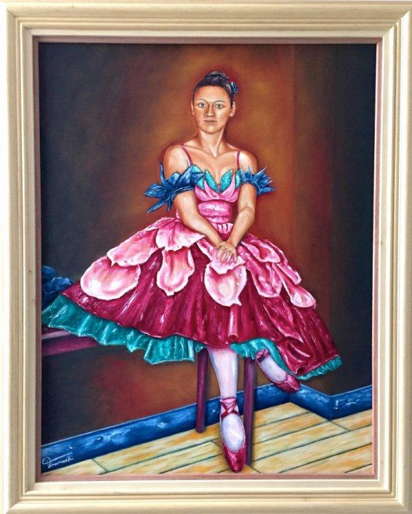 Danseuse de pétale peinture à l'huile de Tranischi