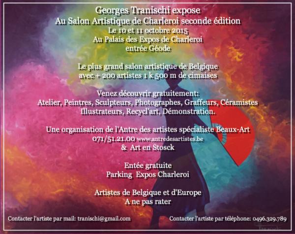 Exposition au Salon Artistique de CHARLEROI ce week-end