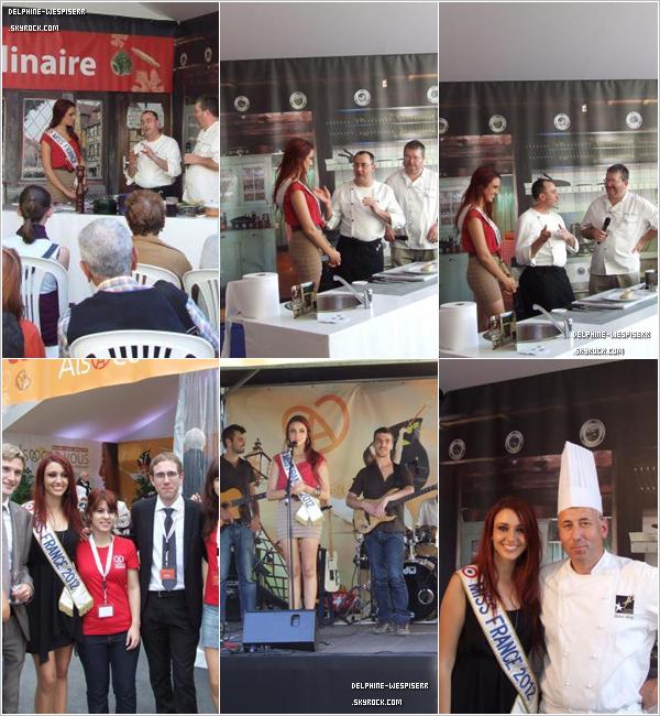 .  10 & 11/10  Quelques photos de Delphine à Marseille au Village ''Alsacez-vous'' pour promouvoir sa région l'Alsace.   .