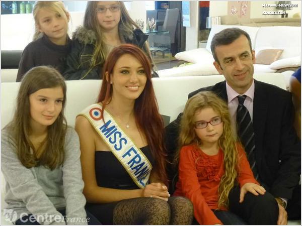 .  04/11  Miss France 2012 était chez un commerçant de Gien.  .