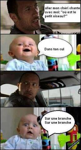 the rock et...un bébé!!!lol