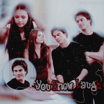 ∙•∙ Blue-Bedrooms-Art ∙•∙    « I Like You.. You Know Laugh..  » Damon & Elena ~ 1x03    Texte.Création.Décoration ~ Newsletter ~