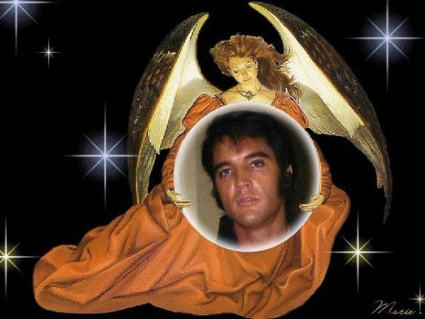 hommage au king le roi !! elvis presley !! nous a quitter le 16 out 1977 !!! marilyne