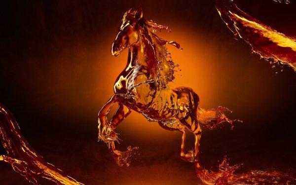 cheval en feu