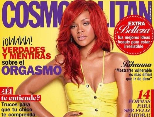 """18 octobre 2011 : Rihanna fait la couverture du magazine """"Cosmopolitan"""" espagnol"""