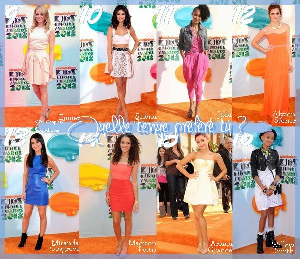 Spécial Kid Choice Award 2012
