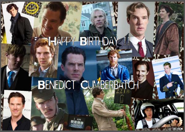 Happy Birthday Benedict Cumberbatch !!
