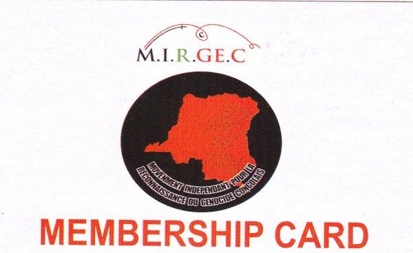 LANCEMENT OFFICIEL DES CARTES DES MEMBRES DU MIRGEC PAR LE MP DE LA DIASPORA CONGOLAISE DE UK EN VIGUEUR !