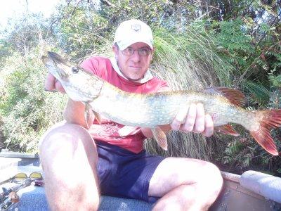Pêche en Septembre dans un lac des Landes