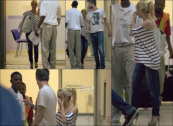 ✈️️ Shakira & Gérard ont vus à « L'Aéroport international Clayton J. Llyod ». 29 Juin 2011 - The Valley, Anguilla.