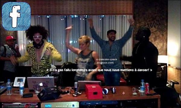 🎉 Shakira & le groupe LMFAO étaient dans les « Studios d'Enregistrement ».  29 Février 2012 - Barcelone, Espagne.