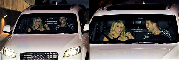 🎉 Le soir, Shakira & Gérard sont allés à « L'Hôtel W » avec d'autres joueurs du FC Barcelone. 16 Mai 2012 - Barcelone, Espagne.