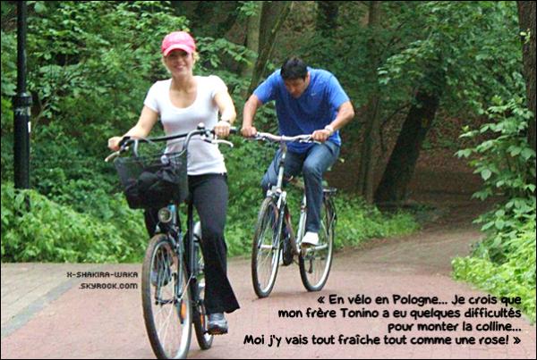 🚲 Shakira a posté une photo d'elle & Tonino « Faisant du Vélo ». 16 Juin 2012 - Gdansk, Pologne.