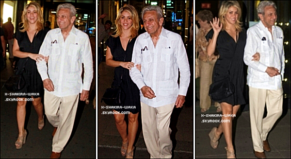 🎂 Le soir, Shakira & ses Parents sont fêter « L'Anniversaire de son Papa William ». o6 Septembre 2012, Milan - Italie.