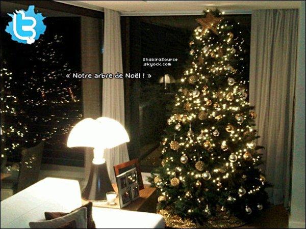 🎄 Shakira a posté une photo de son « Sapin de Noël ». 11 Décembre 2012, Barcelone - Espagne.