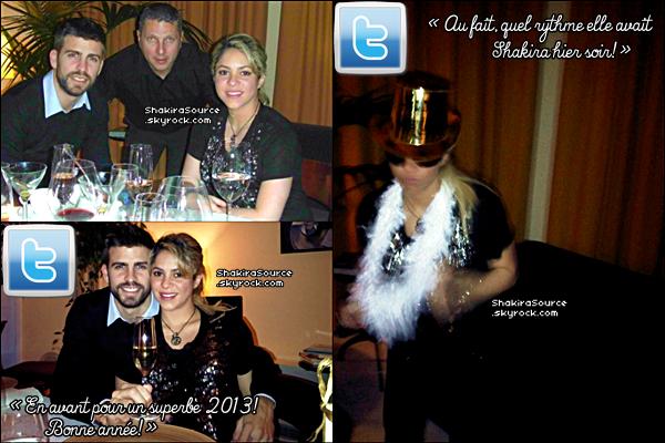 🎉 Shakira & Gérard lors du « Réveillon de Nouvel-An ». 31 Décembre 2012, Cerdaña - Espagne.