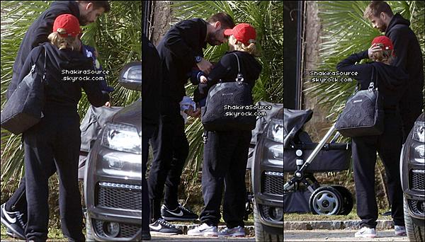 🍴 Shakira, Gérard & Milan sont allés déjeuner au « Restaurant Can Cortada » puis sont allés « Se Promener dans un Parc ». 17 Février 2o13, Barcelone - Espagne.