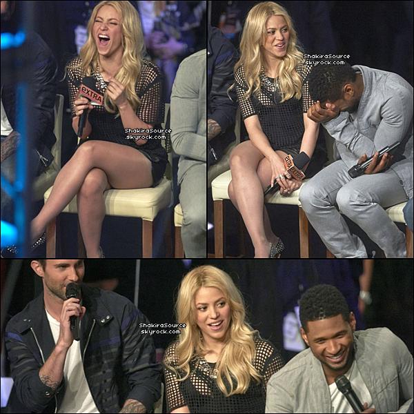 📺 Shakira & les autres coatchs de The Voice sont allés sur le plateau de l'émission « Extra TV » présenté par Mario Lopez. o6 Mai 2o13, Los Angeles - Etats-Unis.