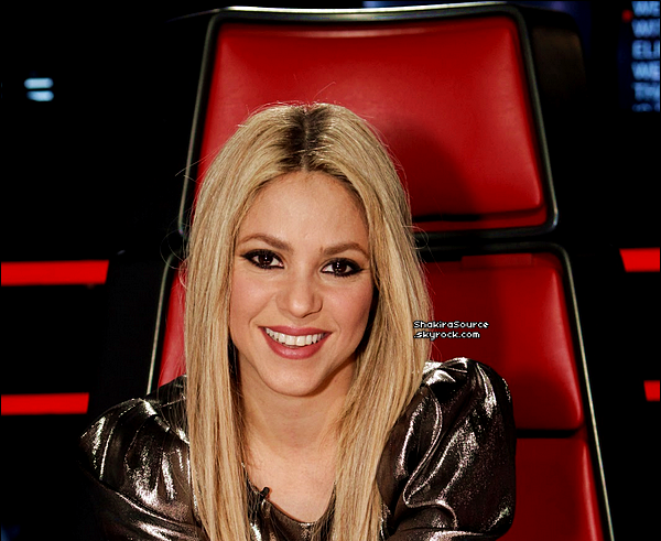 🎤 Shakira était sur le « Plateau de The Voice ». 28 Mai 2o13, Los Angeles - Etats-Unis.