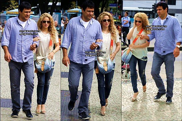 🚶 Shakira & Tonino se sont rendus au « Consulat Américain ». 20 Juin 2o13, Rio de Janeiro - Brésil.