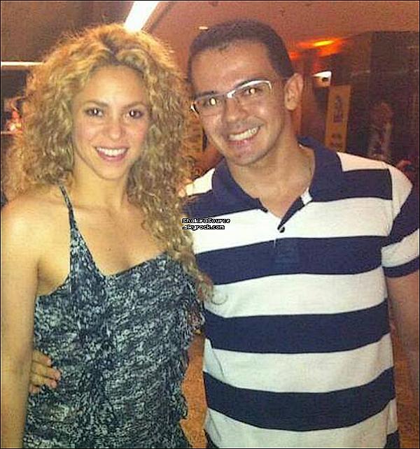 🍴 Le soir, Shakira & Gérard sont allés dîner au « Restaurant Moranga ».  27 Juin 2o13. Fortaleza - Brésil.
