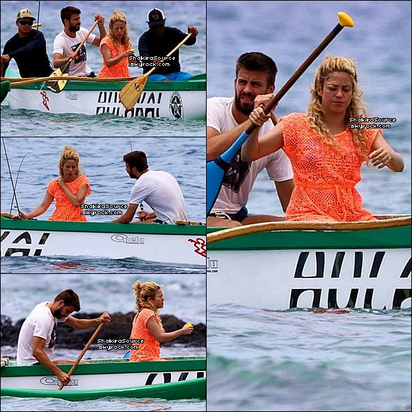 🎣 Shakira & Gérard sont allés « Pêcher ». 21 Juillet 2o13. Hawaï - Etats-Unis.